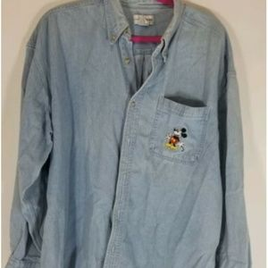 Disney mickey mouse denim shirt size xl